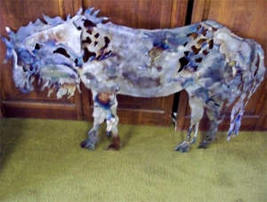 An example of the sculpture produced by Montana Game Warden Kqyn Kuka