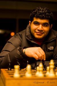 Hussain Abdalmonem Alshaikh enjoys a chess game. Alshaikh is an international student at Montana State University.