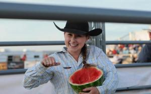 Sarah Wright breaks the mold when it comes to rodeo competitors.