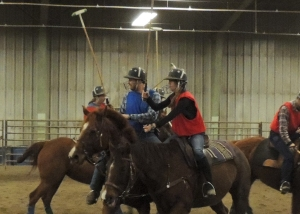 Members of the Montana State University polo team practice in preparation for competitive play later this year.