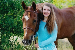 Jennifer Hobbs and her quarter horse Rodney.